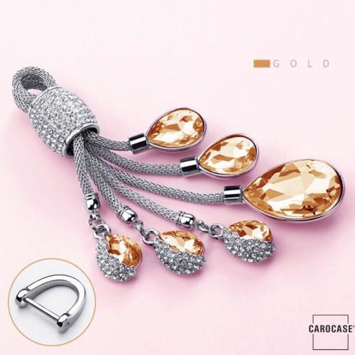 Dekorativer Schlüsselanhänger inkl. Karabiner in 5 verschiedenen Farben gold