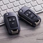 Glossy key case/cover for Opel remote keys black SEK2-OP6-1