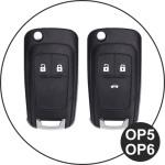 Glossy Silikon Schutzhülle / Cover passend für Opel Autoschlüssel OP6, OP7, OP8, OP5 schwarz
