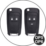 Glossy key case/cover for Opel remote keys gold SEK2-OP6-16
