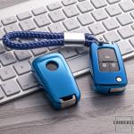 Glossy Silikon Schutzhülle / Cover passend für Opel Autoschlüssel OP6, OP7, OP8, OP5 blau