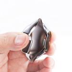 Glossy Silikon Schutzhülle / Cover passend für Ford Autoschlüssel F8, F9 schwarz