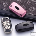 Glossy key case/cover for Ford remote keys silver SEK2-F9-15