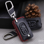 Leder Schlüssel Cover passend für Citroen, Peugeot Schlüssel CX1, PX1