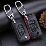 Schlüssel Cover Leder für Peugeot & Citroen für Schlüsseltyp PX2 CX2,
