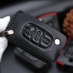 Leder Schlüssel Cover passend für Citroen,...