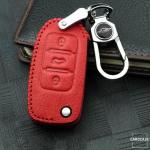 RUSTY Leder Schlüssel Cover passend für Volkswagen, Skoda, Seat Schlüssel dunkelbraun LEK13-V2