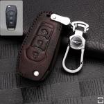 RUSTY Leder Schlüssel Cover passend für Ford Schlüssel  LEK13-F2