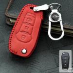 RUSTY Leder Schlüssel Cover passend für Ford Schlüssel rot LEK13-F2