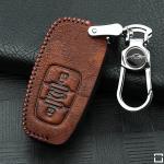 RUSTY Schlüsseletui aus echtem Premiumleder für Audi Schlüsseltyp AU2