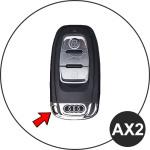 RUSTY Leder Schlüssel Cover passend für Audi Schlüssel dunkelbraun LEK13-AX2