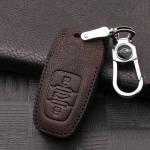 RUSTY Leder Schlüssel Cover passend für Audi Schlüssel dunkelbraun LEK13-AX4