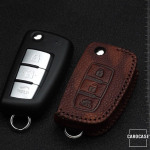 RUSTY Leder Schlüssel Cover passend für Nissan Schlüssel  LEK13-N2