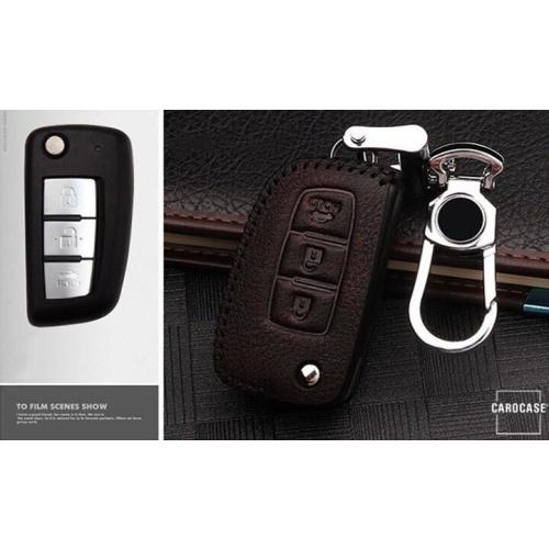 RUSTY Leder Schlüssel Cover passend für Nissan Schlüssel dunkelbraun LEK13-N2