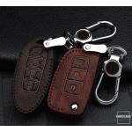 RUSTY Leder Schlüssel Cover passend für Nissan Schlüssel dunkelbraun LEK13-N8