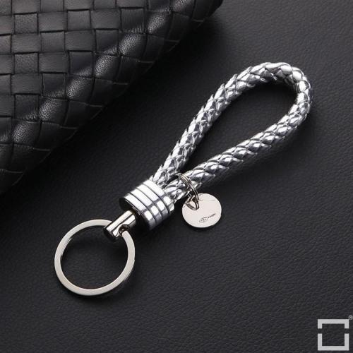 Lederband inkl. Schlüsselring mit chrom Schlüsselring SAR31 silber
