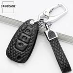 BLACK-ROSE Leder Schlüssel Cover für Ford Schlüssel  LEK4-F4