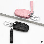 BLACK-ROSE Leder Schlüssel Cover für Ford...