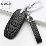BLACK-ROSE Leder Schlüssel Cover für Ford Schlüssel  LEK4-F3