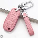 BLACK-ROSE Leder Schlüssel Cover für Ford Schlüssel  LEK4-F2