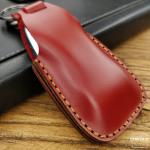 PREMIO Leder Schlüssel Cover passend für Mercedes-Benz Schlüssel rot LEK33-M9