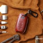 PREMIO Leder Schlüssel Cover passend für Audi Schlüssel  LEK33-AX4