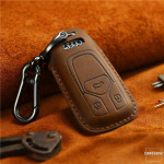 PREMIO Schlüsseletui aus echtem Leder für Audi Autoschlüssel, Schlüsseltyp AX6