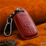 PREMIO Leder Schlüssel Cover passend für Audi Schlüssel rot LEK33-AX6