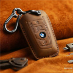 PREMIO Schlüsseletui aus echtem Leder für BMW...