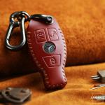 PREMIO Schlüsseletui aus echtem Leder für...