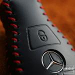 PREMIO Leder Schlüssel Cover passend für Mercedes-Benz Schlüssel  LEK33-M8