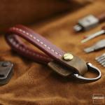 PREMIO Schlüsselelanhänger aus echtem Leder,...