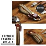 PREMIO Schlüsselelanhänger aus echtem Leder, inkl. Karabiner