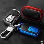 Black-Glossy Silikon Schutzhülle passend für Honda Schlüssel  SEK7-H12