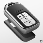 Black-Glossy Silikon Schutzhülle passend für Honda Schlüssel rosa SEK7-H12-10