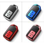 Black-Glossy Silikon Schutzhülle passend für Honda Schlüssel  SEK7-H11