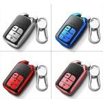 Black-Glossy Silikon Schutzhülle passend für Honda Schlüssel  SEK7-H13