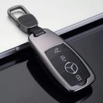 Aluminium Premium Schlüssel Cover passend für Mercedes-Benz Autoschlüssel hellblau HEK11-M9-21