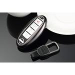 Aluminium Premium Schlüssel Cover passend für Nissan Autoschlüssel dunkelblau HEK11-N5-22