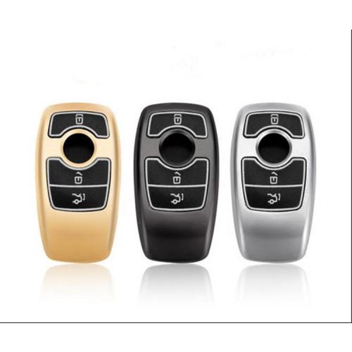 Schutzhülle Cover passend für Mercedes-Benz Autoschlüssel  mit Leuchtfunktion ohne Batterien HEK18-M9