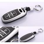 Schutzhülle Cover passend für Audi Autoschlüssel  mit Leuchtfunktion ohne Batterien HEK18-AX4