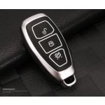 Schutzhülle Cover passend für Ford Autoschlüssel gold mit Leuchtfunktion ohne Batterien HEK18-F5-16