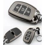 Schutzhülle Cover passend für Hyundai Autoschlüssel gold mit Leuchtfunktion ohne Batterien HEK18-D1-16