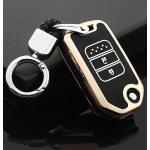 Schutzhülle Cover passend für Honda Autoschlüssel gold mit Leuchtfunktion ohne Batterien HEK18-H9-16