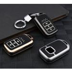 Schutzhülle Cover passend für Honda Autoschlüssel gold mit Leuchtfunktion ohne Batterien HEK18-H12-16