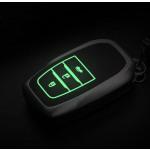 Schutzhülle Cover passend für Toyota Autoschlüssel gold mit Leuchtfunktion ohne Batterien HEK18-T3-16