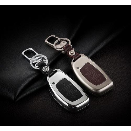 Alu Hartschalen Schlüssel Case passend für Hyundai Autoschlüssel  HEK2-D1