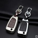 Alu Hartschalen Schlüssel Case passend für Hyundai Autoschlüssel  HEK2-D8