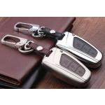Alu Hartschalen Schlüssel Case passend für Hyundai Autoschlüssel chrom/schwarz HEK2-D4-29