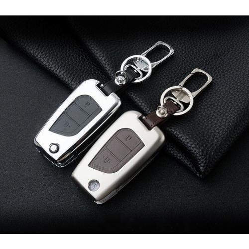Alu Hartschalen Schlüssel Case passend für Toyota Autoschlüssel  HEK2-T1